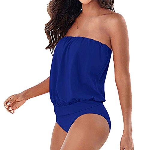 GTKC las Mujeres de Una sola Pieza vestido de Baño SuitBikini trajes de baño trajes de baño Traje de baño Azul