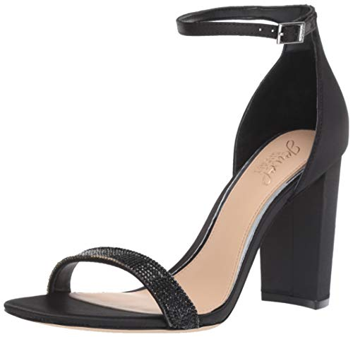 Badgley Mischka Jewel Women's Keshia III Heeled Sandal Black Satin 7 M US