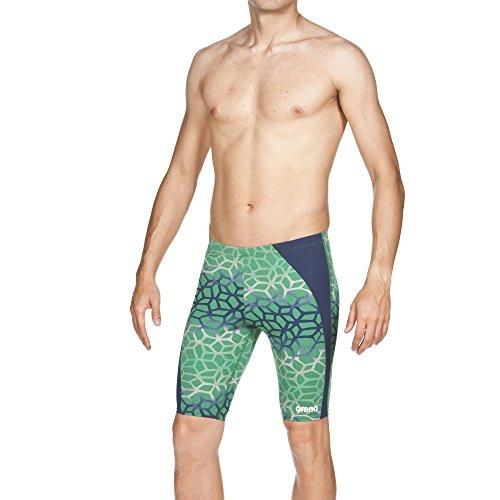 Arena de la mujer M Polycarbonite nadar Jammer azul marino y verde