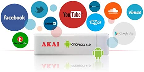 Akai AD02 - Adaptador Smart TV (HDMI, MicroSD) Color Blanco: Amazon.es: Informática
