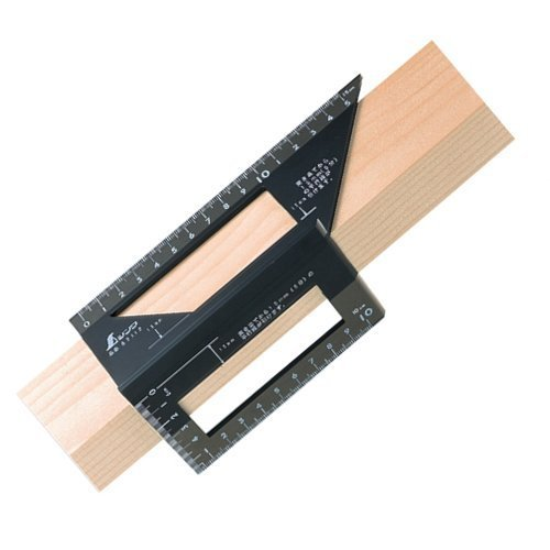 - SHINWA Japan Square Layout Miter 45 + 90 Degrees Metric Polycarbonate 62112