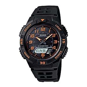 """Casio Men's AQS800W-1B2VCF""""Slim"""" Solar Multi-Function Ana-Digi Sport Watch"""
