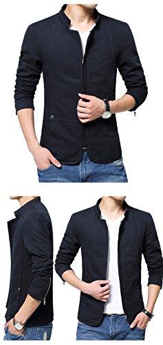 Cotone Uomini Sottile Rivestimento Di Black Del M Modo Cappotto E Degli B6nZx1