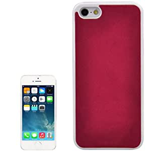 Mesh Style Frosted Texture Paste Skin Plastic Case for iPhone 5 & 5S (Red)