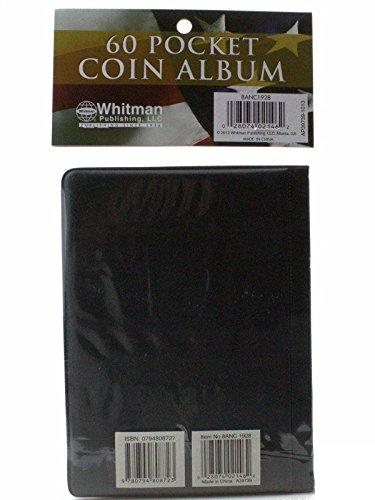 60 Pocket HE Harris Coin Album Hold Mylar or Flips