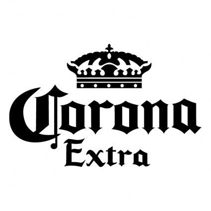 Corona Extra Beer Vinyl White Sticker 9''width By 5.5'' Height