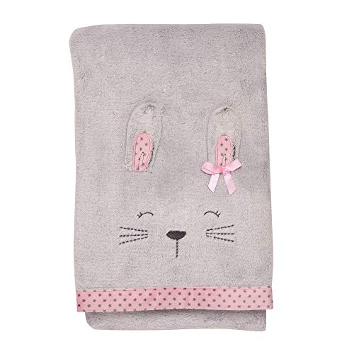 Little Me Bunny Embroidered Baby Blanket with 3-D Ears