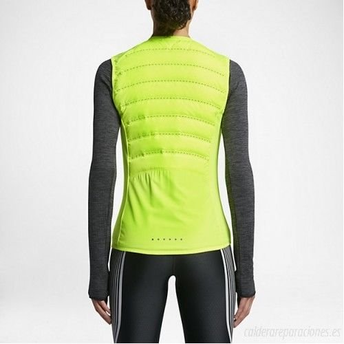 1b740f39636a9 Amazon.com : Nike AeroLoft Women's Running Vest Packable Volt Reflect  799849 702 (L) : Sports & Outdoors