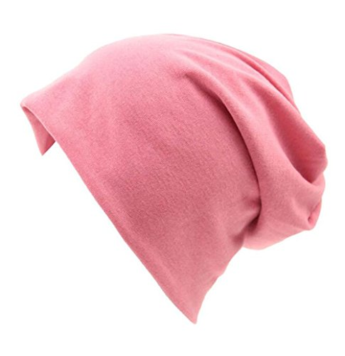 Century Star Unisex Women Thin Solid Baggy Slouchy Lightweight Oversized Cotton Sleep Beanie Hat Skull Cap Pink (Good Hope Ladies Leather)