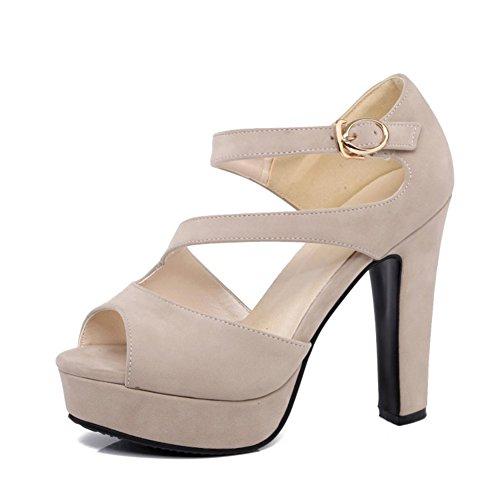 los Verano Mujeres del Atractiva del Hebilla Zapatos Impermeable 2018 de Plataforma tac de Las Sandalias 54xZwqTaP
