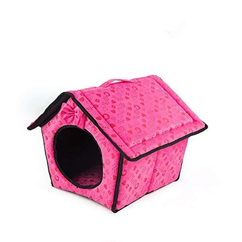 Sikye Sweet Pet House Winter Warm Pet Dog Cat Tent Nest Soft Foldable Sleeping Bag Pad (hot Pink)