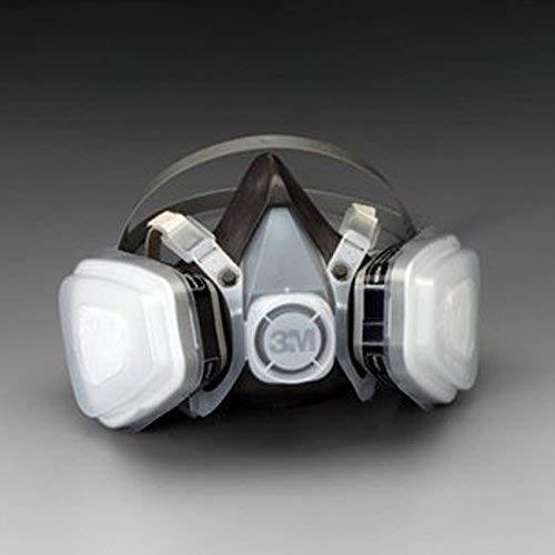 3M 53P71 Painting Mask Professional Multi-Purpose Paint Respirator Half Mask Half Face for Sprayer Gas Spray Gun Organic Vapor P95 Air Purifying Dust Sawdust Mask Disposable Dual Cartridge Air Purifying, Large Size kit earplugs by 3M