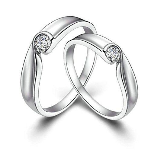 - Gnzoe Men Wedding Anniversary Rings Heart Puzzle Rings Matching Rings 4mm/5mm (Price One Pc)