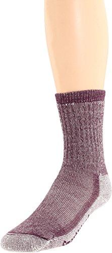 Smartwool Women's Hike Medium Crew 3-Pack Dark Cassis Socks LG (Women's Shoe 10-12.5)