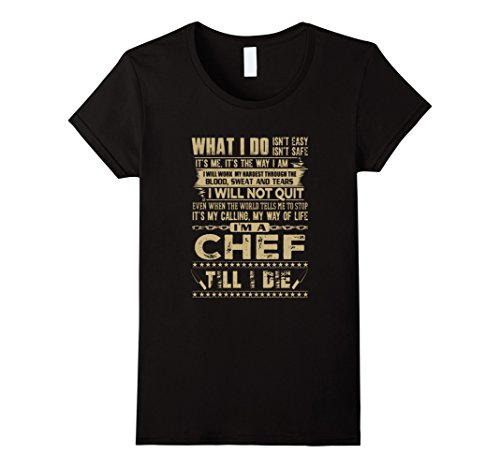 Womens I Am A Chef Till I Die Large Black