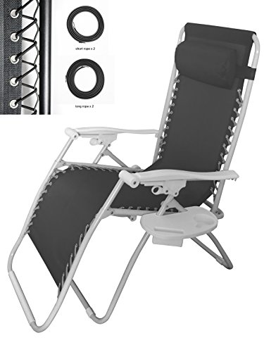 Cross Land Universal Replacement Cloth For Zero Gravity Chair Recliners Lounge Chair,black