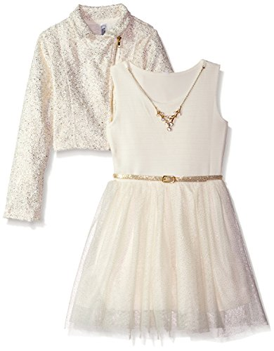 ivory dress and jacket - 1