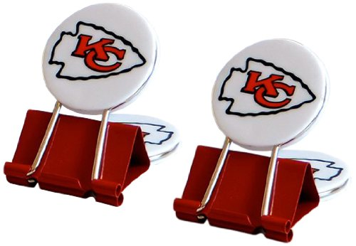Nfl Kansas City Chiefs Myfanclip Multipurpose Clips  Pack Of 2