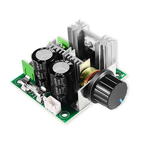 12V-40V 10A PWM DC Motor Speed Controller, High Torque & Low Heat Radiation Frequency Controller with Knob-High Efficiency, Variable Speed Regulator Governor ()