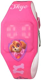 Nintendo Girl's Quartz Plastic and Rubber Casual Watch, Color:Pink (Model: PAW4017)
