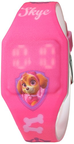 Pink Watch Plastic (Nickelodeon Girl's Quartz Plastic and Rubber Casual Watch, Color:Pink (Model: PAW4017))