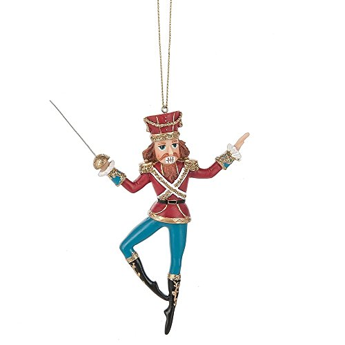 Nutcracker Ballet with Sword 4 x 5 Inch Resin Christmas Ornament