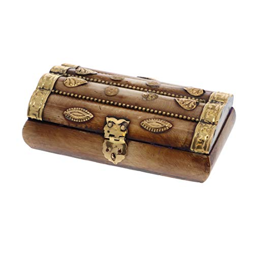 SandT Collection Treasure Chest Gold Embellishments Trinket Jewelry ()