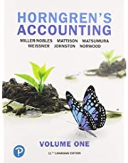 Horngren's Accounting, Volume 1, Eleventh Canadian Edition (11th Edition)