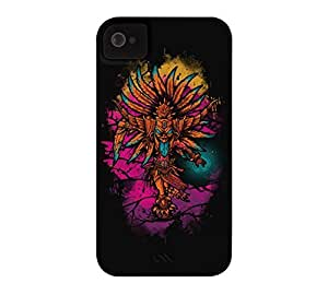 Ancient Spirit iPhone 4/4s Black Barely There Phone Case - Design By Humans