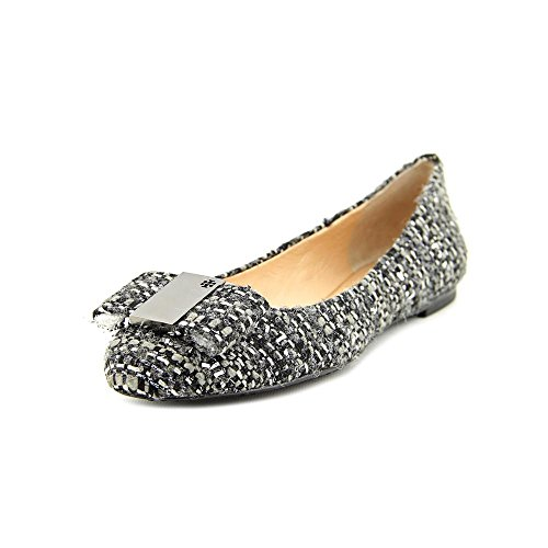 Tory Burch Chase Ballet Womens Size 9 Gray Fabric Ballet Flats Shoes