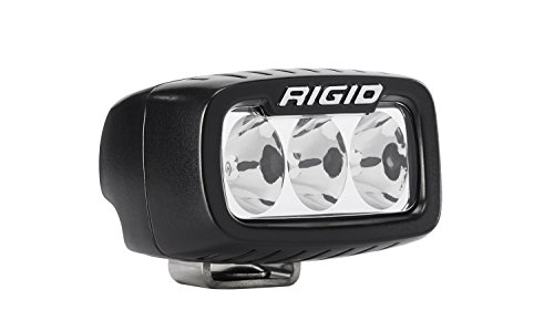 Rigid Industries 912313 SR-M Series Pro Driving Light; Surface Mount; Specter; 3 White LEDs; Black Rectangular Housing; Single;