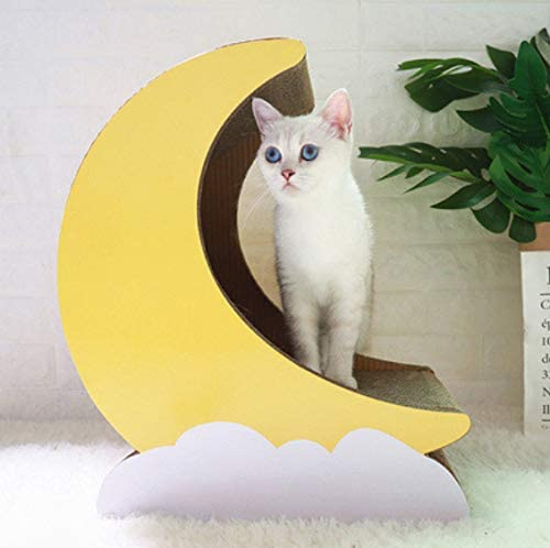 XZHH Gato De Papel Corrugado Arañazos para Gatos Marco De Escalada para Gatos Juguete De Juguete Papel Corrugado Arena para Gatos Sacapuntas De Cartón Forma De Luna: Amazon.es: Productos para mascotas
