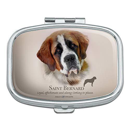 Saint Bernard Dog Breed Rectangle Pill Case Trinket Gift Box