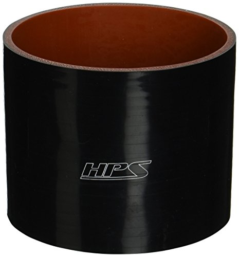 (HPS HTSC-450-L4-BLK Silicone High Temperature 4-ply Reinforced Straight Coupler Hose, 45 PSI Maximum Pressure, 4