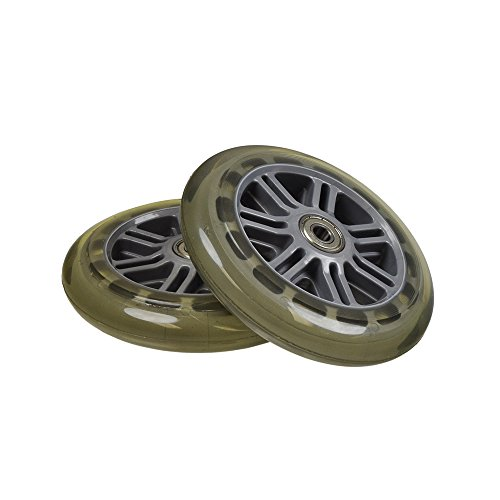 Monster Motion 125 mm Wheel for the Razor A3 Kick Scooter, Clear Wheel Silver Hub by Monster Motion