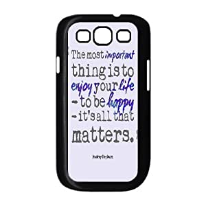 Audrey Hepburn Quote Custom Cover Case with Hard Shell Protection for Samsung Galaxy S3 I9300 Case lxa#903974