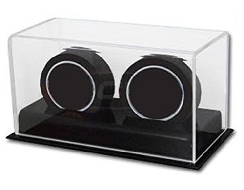 BCW Deluxe Acrylic Double Hockey Puck Display Case by BCW (5 Hockey Puck Display Case)