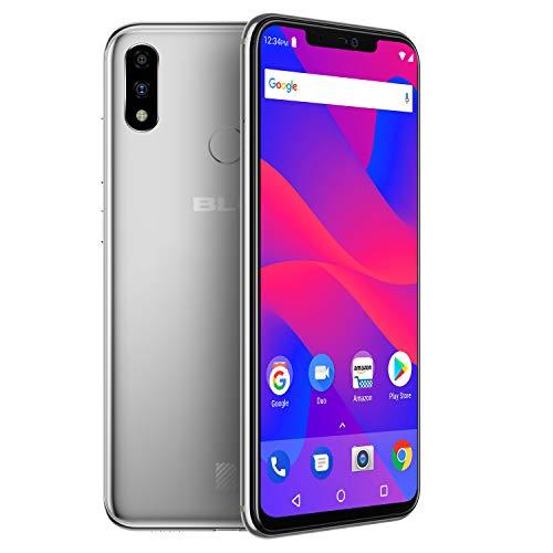 "BLU VIVO XI+ - 6.2"" Full HD+ Display Smartphone, 128GB+6GB RAM, AI Dual Cameras -Silver"