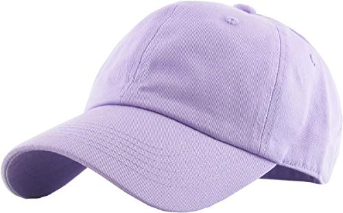 - KB-Low LAV Classic Cotton Dad Hat Adjustable Unconstructed Plain Cap