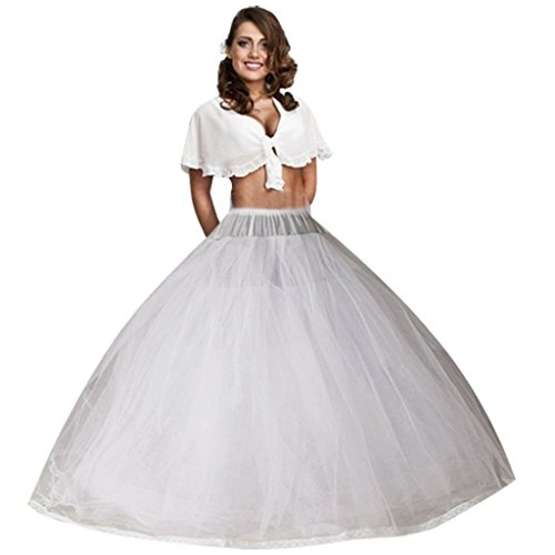 YUAKOU Women's 8 Layers Tulle Ball Petticoats Crinoline Half Slips Underskirt for Bridal Dress ...]()