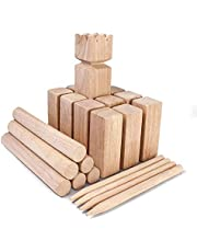 Bloodyrippa KUBB Garden Game, Original Viking Chess Set for Backyard, Lawn, Beach, Made of Solid Hard Wood, Ages, Carry Bag Included