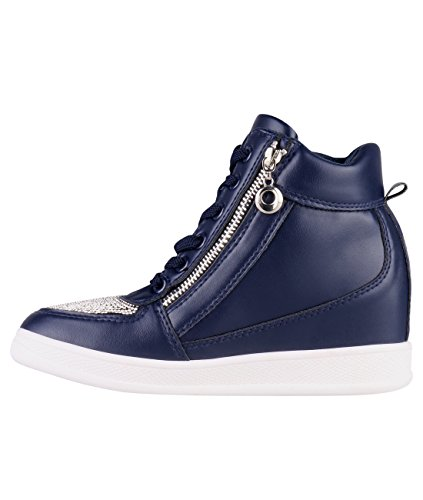 Sneakers blu scuro per donna Krisp aKadUzXQhQ