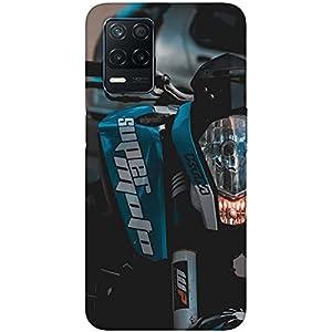 SharpEseller Blue Bike Front Look Printed Soft Designer Mobile Back Cover for Realme 8 5G