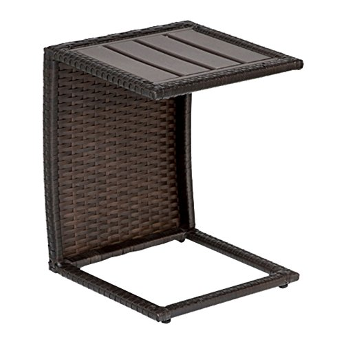 TKC Outdoor Wicker Side Table in Espresso Review