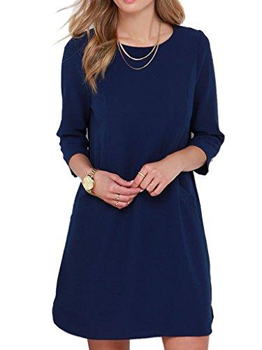 Buy navy dress - 5