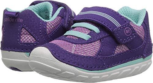 Stride Rite Girls' Soft Motion Jamie Sneaker, Purple, 4.5 W US Toddler