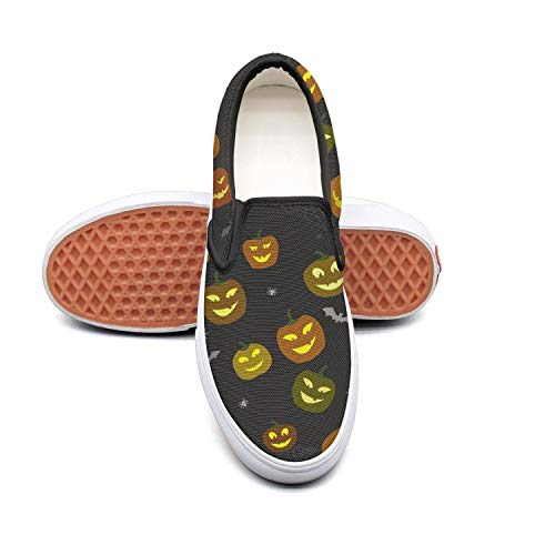 Sernfinjdr Women's Halloween Pumpkins Spiders Fashion Casual Canvas Slip Slip Canvas on Shoes Custom Golf Sneakers B07H5JG1MZ Shoes 0ab578