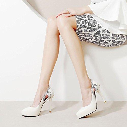 High Closed Heel Kleid Toe Court Schuhe High Heels Frauen Pumps Plattform Stilettos Sommer Hohl Mit Haqdnwt4x
