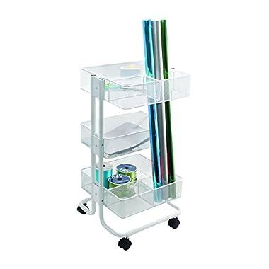 Advantus CH93455 Mobile Gift Wrap Cart, 13.9 x 15.1 x 27.6 , White