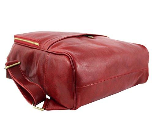 G&G PELLETTERIA - Bolso mochila  de Piel para mujer negro